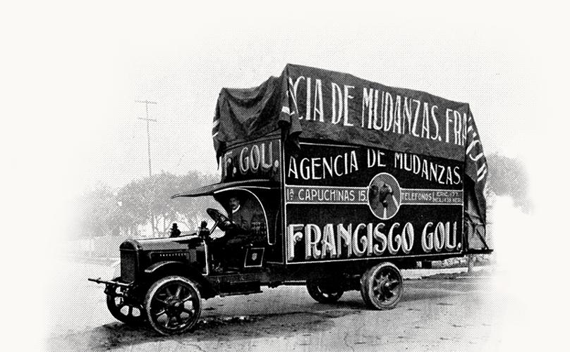 GOU camion viejo Mudanzas Gou